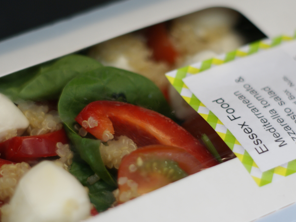 Healthy mediterranean salad in box