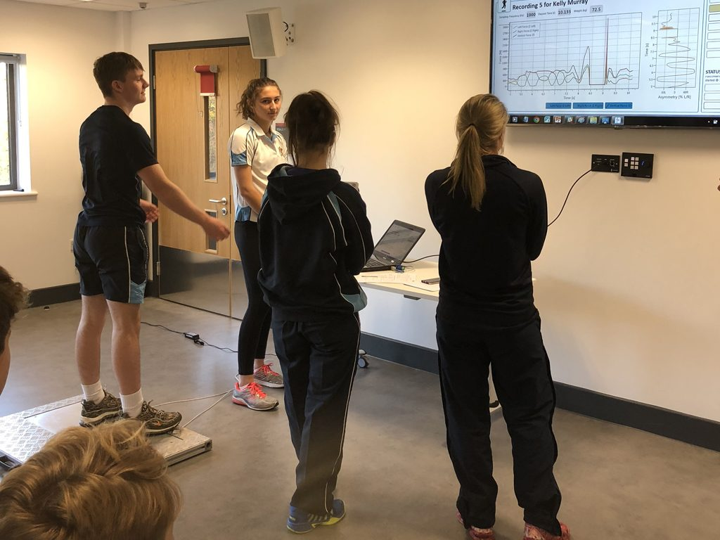 Students analyse psychological factors in sport